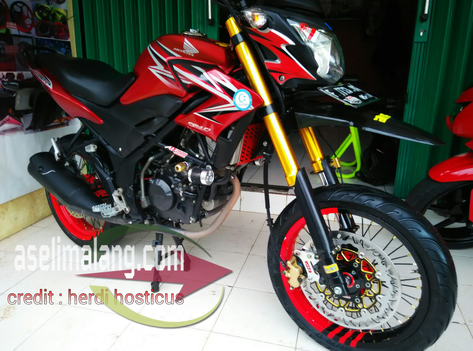 108 Modifikasi Motor Cb 150 R Supermoto Modifikasi Motor Honda CB