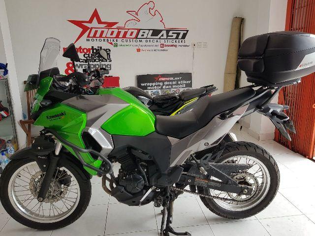 Modifikasi Decal Camouflage Kawasaki Versys X 250 Ala