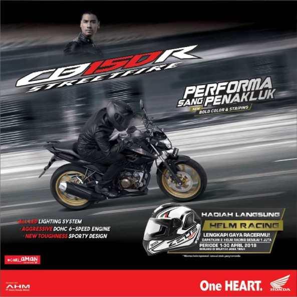 Promo khusus, beli Honda New CB150R langsung dapat helm