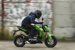 kawasaki z125 riding