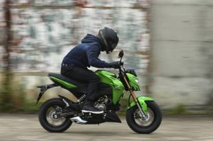 kawasaki z125 riding